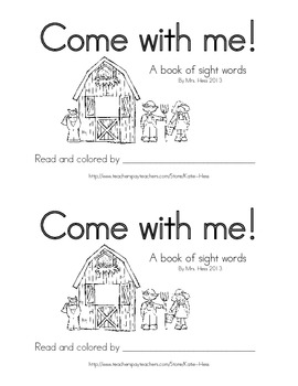 Come with me! Farm emergent sight word reader (Journeys Co