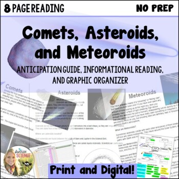 Comets, Asteroids, and Meteoroids Anticipation Guide and I