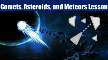 Comets, Asteroids, and Meteors Lesson with Power Point, Wo