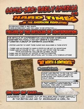 Comic 180: Early America, 6.12 (Hard Times of the American