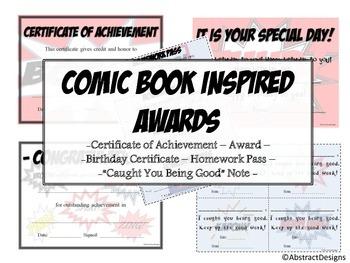 Comic Book Awards Set