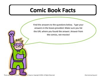 Comic Book Facts Online Web Search