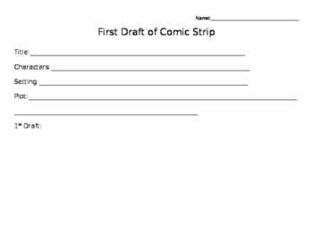 Comic Strip 1st and Final Draft
