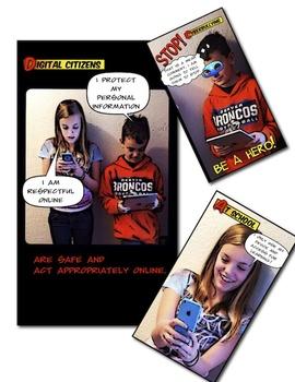 Comic Style Digital Citizenship Poster