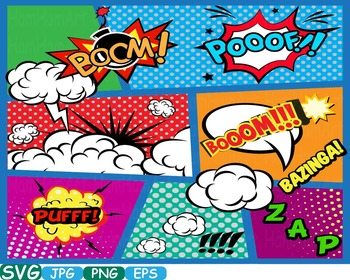 Comic Text Props Super hero clip art Pop Art Speech Bubble