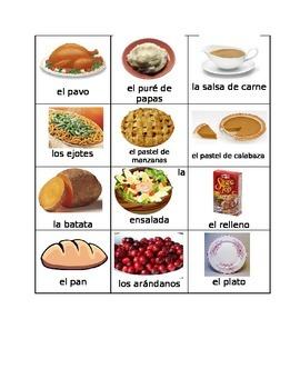 Comida del Día de Acción de Gracias  (Thanksgiving Food in