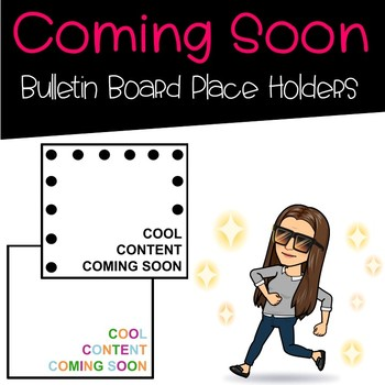 Coming Soon Labels for Bulletin Boards