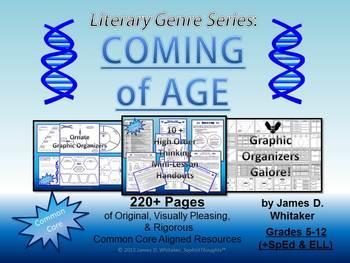 Coming of Age Literary Genre Unit Resource Common Core
