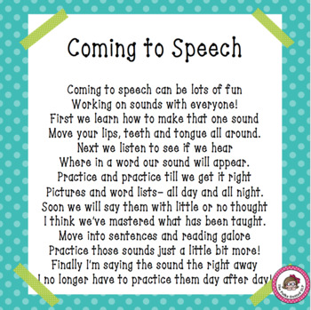 """Coming to Speech"""