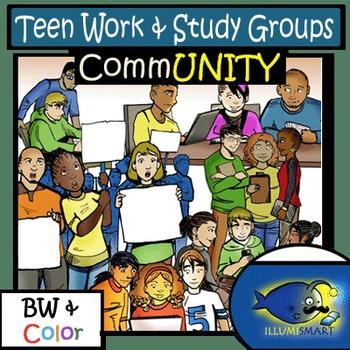 CommUNITY High School Teen Work & Study Groups: 14 pc. Cli