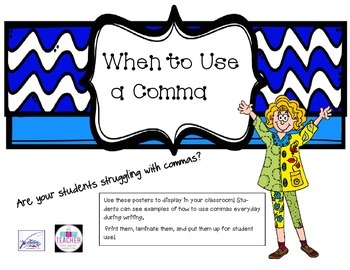 Comma Posters to Display