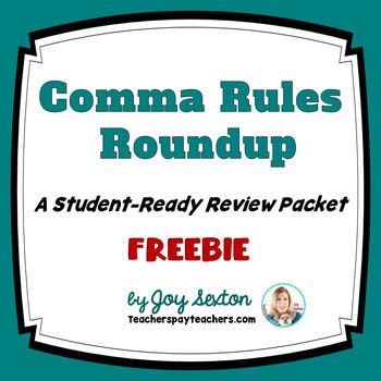 Comma Rules Roundup Freebie - ELA Grades 6-9