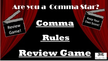 Comma Rules Test Prep Review Game: Are you a comma star?