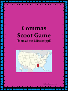 Comma Usage Scoot Game: Mississippi Themed