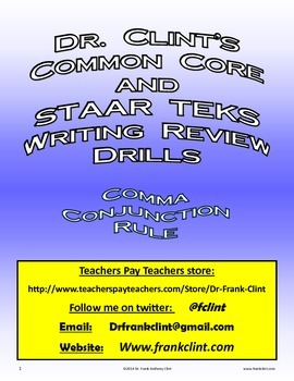 Comma or No Comma (Dr. Clint's Common Core and STAAR TEKS