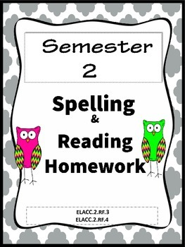 Common Core  Spelling List  Homework and Reading Practice