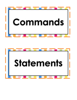 Command and Statement Sort