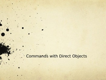 Command with Direct Objects