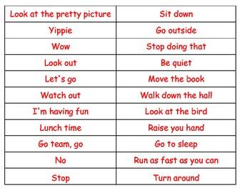 Commands Exclamation sentences cut paste sort ESL hands on