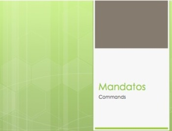 Spanish Commands Notes