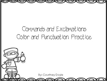 Commands and Exclamations Activities