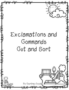 Commands and Exclamations Cut and Sort