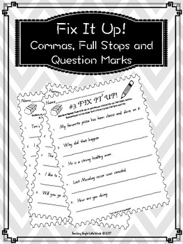 Commas, Full Stops and Question Marks (Queensland Font)