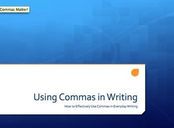 Commas Lesson
