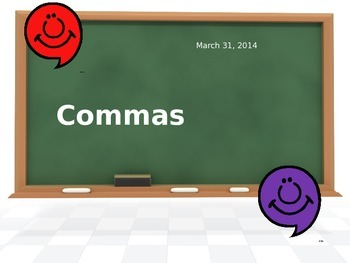 Commas PowerPoint Grade 4 Rules and Practice