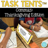 Commas Task Tents™:  Thanksgiving Edition