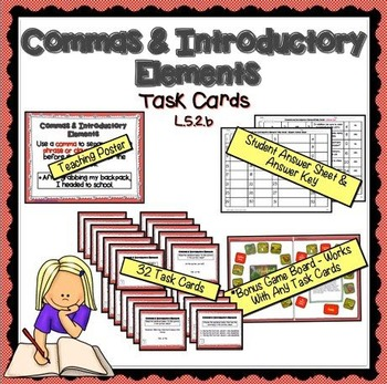 Commas and Introductory Elements Task Cards