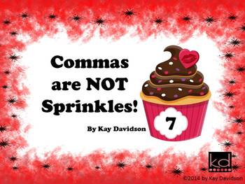 FREE Valentine's Day Posters Grade 7: Commas are NOT Sprinkles!