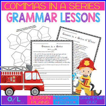 Commas in a Series {Journeys} Lesson #20