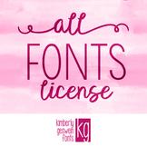 Font License- ALL FONTS