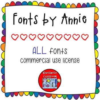 Commercial Font License: All Fonts by Annie for One User {
