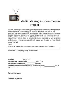 Commercial Project- Persuasive Techniques