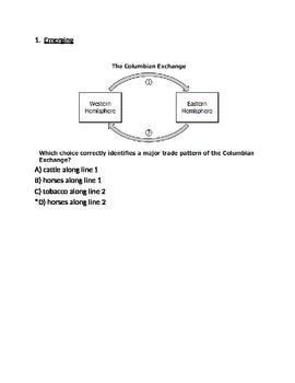 Commercial Revolution Test -- Respondus Format (World Civi
