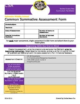 Common Assessment Form