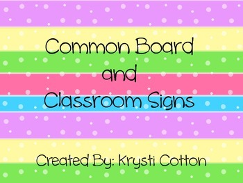 Common Board and Class Labels