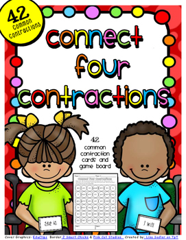 Common Contractions - Connect Four in a Row Game