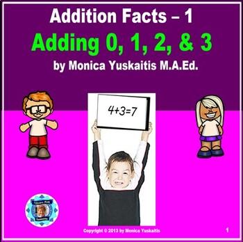 Common Core 1st - Addition Facts 1 - Adding 0, 1, 2, & 3 b