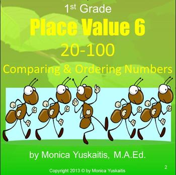 Common Core 1st - Place Value 6 - 20-100 Comparing Numbers