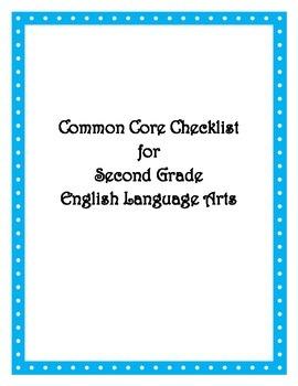 Common Core: 2nd ELA Checklist