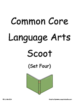 Common Core 2nd Grade Language Arts ELA Set Four~ Scoot Ga