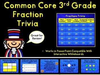 Common Core 3rd Grade- Fractions TV Trivia