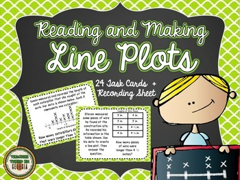 Common Core 3rd Grade- Reading and Making Line Plots Task