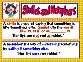 Common Core 3rd Grade Up Mighty Metaphors, Super Similes I