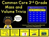 Common Core 3rd Grade-Volume and Mass Trivia Game-Great fo