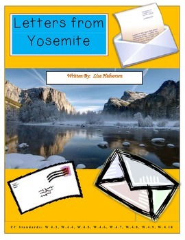 Common Core/PARCC Writing Prompt:  Letters from Yosemite (