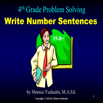Common Core 4th - Problem Solving - Write a Number Sentence